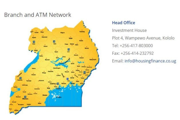 Housing Finance Bank Branches and ATM Network In Uganda – Contact Numbers & Locations